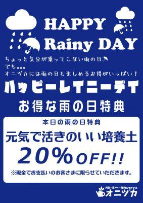 雨の日特典